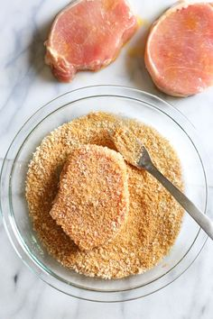 These Crispy Boneless Breaded Pork Chops come out moist on the inside and crispy on the outside! An easy air fryer recipe that takes only 12 minutes to cook. Air Fryer Xl Recipes, Air Frier Recipes, Air Fryer Recipes Pork Chops, Air Fry Pork Chops, Fried Pork Chops, Breaded Pork Chops Oven, Shake And Bake Pork, Cooking Boneless Pork Chops, Air Fryer Cooking Times