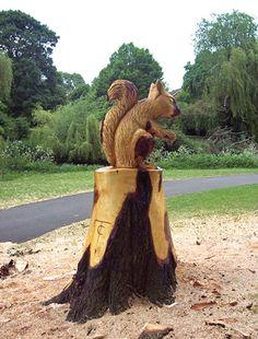 Squirrel Tree Sculpture