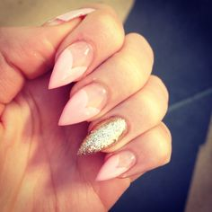 Y Heart Shaped French Tips Greg Scher Stiletto Nails Claws