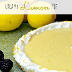Creamy Lemon Pie Recipe - Wanna Bite