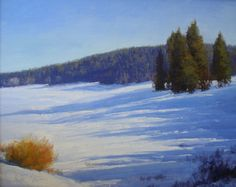 David Harms, Late winter Shadow Shapes 24 x 30