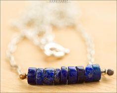 Sterling Silver Blue Lapis Necklace - Jewelry by Jason Stroud.