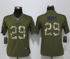 Women New Nike Kansas City Chiefs 29 Berry Green Salute To Service Limited  Jersey Jim Brown a44d9ad7f