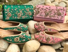 We are manufacturers and luxury retail company that produces glamorous handmade footwear. Get awesome women's footwear, juttis, designer women footwear India. Indian Accessories, Bridal Accessories, Bridal Sandals, Bridal Bangles, Beaded Sandals, Indian Shoes, Indian Designer Wear, Shoe Collection, Wedding Shoes