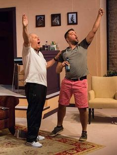 Trip (Michael) and his father, Lyman (Kent), reenact a moment from Lyman's acting past in SCT's production of Other Desert Cities, season extra Cities, Acting, The Past, Father, In This Moment, Seasons, Pai, City, Seasons Of The Year