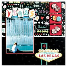 Vegas scrapbook page layout