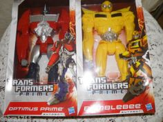 "Transformers Prime 12"" Action Figure Set Optimus Prime and Bumblebee Autobots"