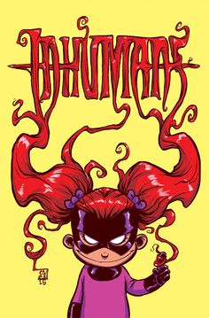 Inhumans: Attilan Rising #1 variant Skottie Young