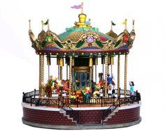 Lemax collectors musical Christmas Village, Sunshine Carousel.