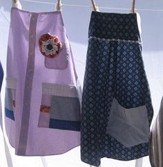 Bee In My Bonnet: Making Aprons from Old Shirts...