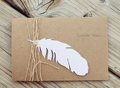 paper feather gift wrap