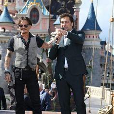 5-14-2017 Paris pre POTC 5  Javier Bardem & Johnny Depp