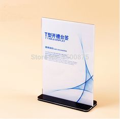 10pcs 14.8*21cm  Vertical Acrylic Desktop Display Stand Price Tag Holder Menu Label Display Sign Holder Free Shipping
