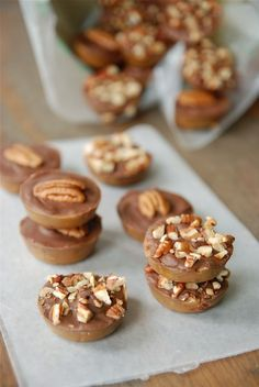 Texas Pecan Roca - these cute candies look easy to make