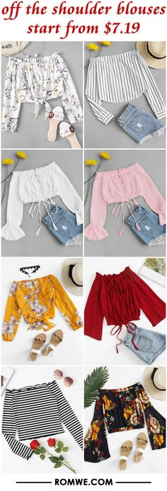 off the shoulder blouses from $7.19
