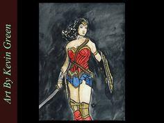 Wonder Woman Watercolor (speed painting)