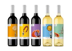 Verano De España on Packaging of the World - Creative Package Design Gallery Branding And Packaging, Jar Packaging, Packaging Design, Wine Bottle Design, Wine Label Design, Paella, Chilled Beer, Wine Names, Spanish Wine