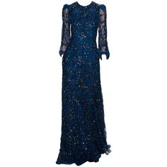 JennyPackham-editedbyelfemme ❤ liked on Polyvore featuring dresses, gowns, long dresses, jenny packham, long blue dress, blue ball gown, blue dress and blue evening dresses
