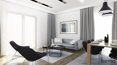 DOM WIELICZKA - Średni salon z jadalnią, styl nowoczesny - zdjęcie od FORMA - Pracownia Architektury Wnętrz i Krajobrazu