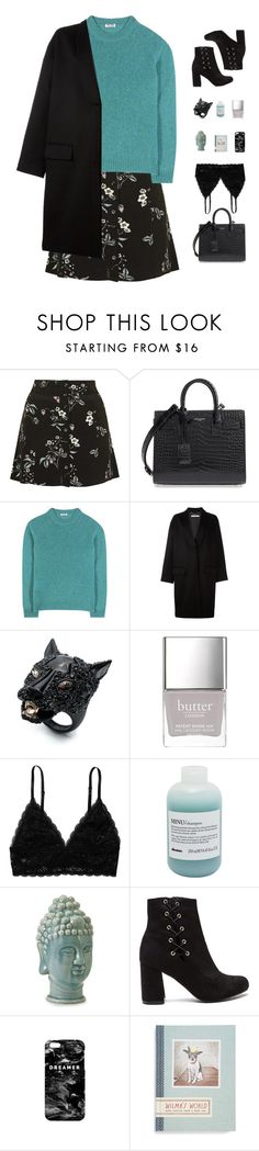 """taking over me"" by ishipbullshit ❤ liked on Polyvore featuring Topshop, Yves Saint Laurent, Miu Miu, Givenchy, Alexis Bittar, Butter London, Monki, Davines, Mr. Gugu & Miss Go and Chronicle Books"