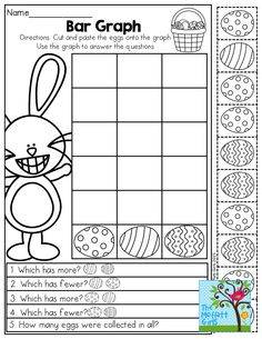 Bar Graph- Cut and paste the eggs and then COMPARE! So many great printables!