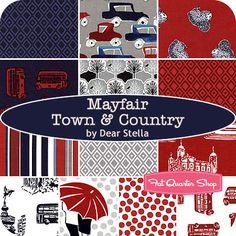Mayfair Town and Country Fat Quarter Bundle Dear Stella Fabrics - Fat Quarter Shop
