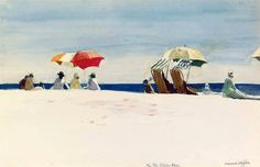 "loverofbeauty: """"Gloucester Beach, Bass Rocks"", 1924, Edward Hopper. """