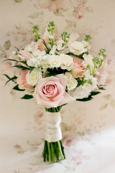 Rose Bouquet Bride Bridal Flowers Pretty DIY Pink Village Hall Countryside Wedding http://www.jobradbury.co.uk/