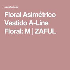 Floral Asimétrico Vestido A-Line Floral: M | ZAFUL