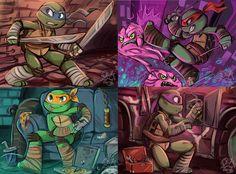 Turtles by sharpie91 on deviantART. Find more digital art @ http://digitalart.io