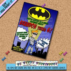 invitation = comic book idea superhero party