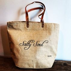 NEW Salty Soul Beach/Grocery Tote by SeaSaltJewelryCo on Etsy