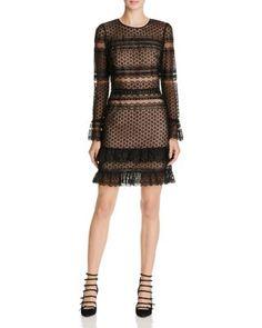 Parker Nadia Illusion Lace Dress   Bloomingdale's