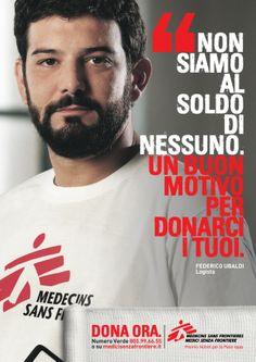 """""""Non siamo al soldo di nessuno"""" campagna per Medici senza frontiere  - Yes I AM per MSF"""