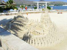 Sand Castles on Puerto Pollensa Beach, Mallorca