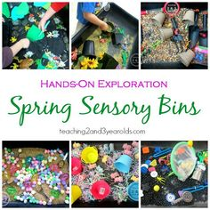 Sensory Activities for Spring - Teaching 2 and 3 Year Olds