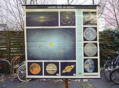 Extra Large Vintage Earth and Universe  Solar by Discoverprints