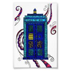 Blue Box - photographic print by Sneddonia on Zazzle