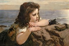 Ernst Stückelberg - The girl with the lizard
