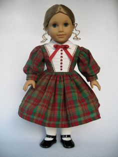 American Girl Doll Clothes Christmas Dress by MyAngieGirl on Etsy