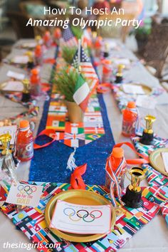 Everything you need to throw the best Olympic party! Includes free printables and Olympic party games, decor, dessert bar, and other ideas to make your party a gold medal winner! | Olympic Party Ideas
