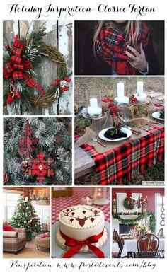 Holiday Inspiration -Classic Tartan Plaid Christmas decor, holiday ideas via Mis. Tartan Christmas, Christmas Love, Country Christmas, Winter Christmas, Christmas Wreaths, Christmas Crafts, Christmas Decorations, Holiday Decorating, Decorating Ideas