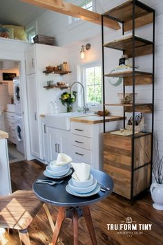 The Payette: a modern/rustic tiny house with two bedrooms and a beautifully decorated interior!