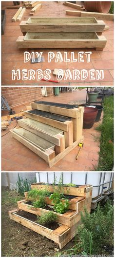Pallet Stairs Planter