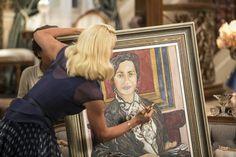 A vilã rasga o quadro de Anastácia e a tia fica assustada. (Foto: Inácio Moraes/Gshow)