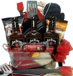 Theme Baskets, Themed Gift Baskets, Raffle Baskets, Bbq Gifts, Cute Gifts, Raffle Prizes, Raffle Ideas, Fathers Day Gift Basket, Gift Baskets For Men