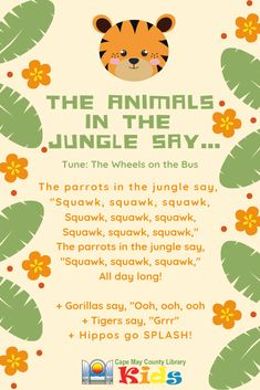 Such a fun action song! Great for incorporating movement into animal and jungle themes. Such a fun action song! Great for incorporating movement into animal and jungle themes. Jungle Activities, Preschool Jungle, Jungle Crafts, Preschool Music, Preschool Learning, Preschool Activities, Preschool Movement Songs, Music Activities For Preschoolers, Transition Songs For Preschool