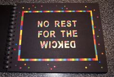No Rest for the Wicked - Book Page Wicked Book, Book Pages, Rest, Books, Do Crafts, Livros, Book, Livres, Libros