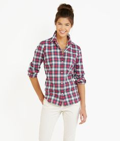 Women's Shirts: Holiday Tartan Shirt for Women - Vineyard Vines
