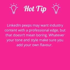 Content that you share on LinkedIn doesn't have to be boring.